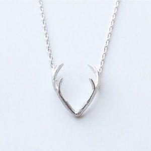 Antler Silver Color Necklace